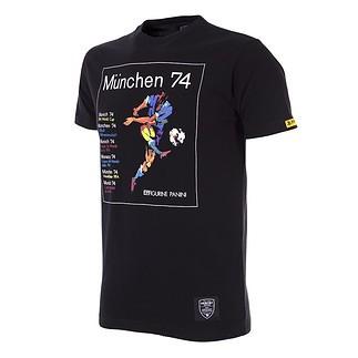 Copa PANINI T-Shirt World Cup 1974 München schwarz