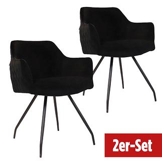 BREAZZ Stuhl Neola Velvet 2er Set schwarz