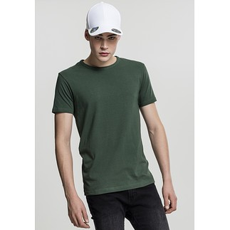 URBAN CLASSICS T-Shirt Fitted Stretch Dunkelgrün
