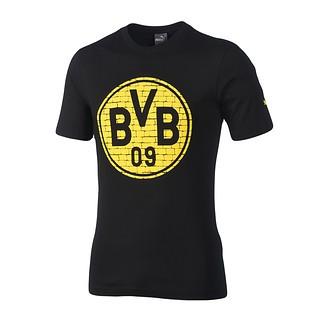 Puma Borussia Dortmund T-Shirt Logo BVB Schwarz