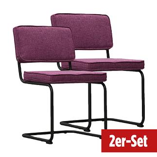 BREAZZ Stuhl Rib Industrial 2er Set lila