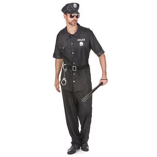 Karnevals- Kostüm Heißer Polizist schwarz