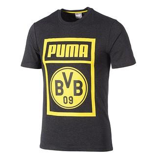 Puma Borussia Dortmund T-Shirt Shoe Tag grau