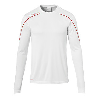 uhlsport Trainingsshirt Langarm Stream 22 weiß/rot