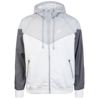 Nike Kapuzenjacke Windrunner weiß/grau
