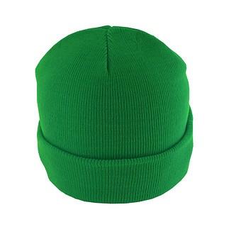 MasterDis Beanie Basic Flap Grün