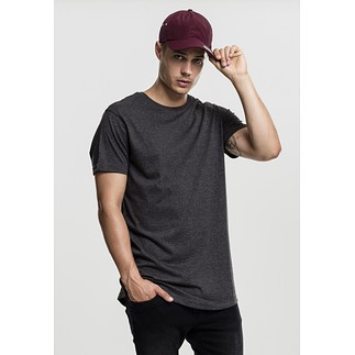 URBAN CLASSICS T-Shirt Shaped Melange Long dunkelgrau