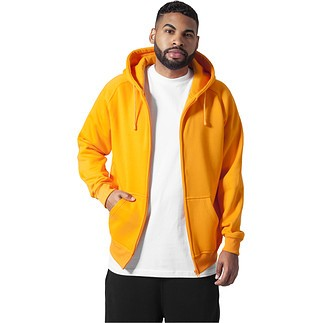 URBAN CLASSICS Kapuzenjacke Zip Orange