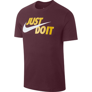 Nike T-Shirt Swoosh JUST DO IT Braun/Gelb