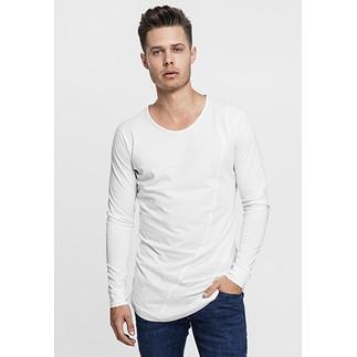 URBAN CLASSICS Sweatshirt Long Shaped Fashion Weiß