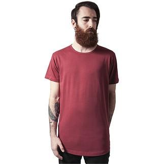URBAN CLASSICS T-Shirt Peached Shaped Long burgunder