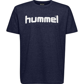 hummel T-Shirt Cotton Logo marine