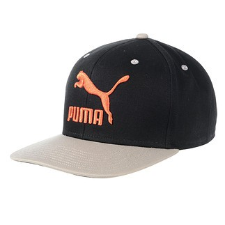 Puma Cap Colourblock schwarz/orange/grau