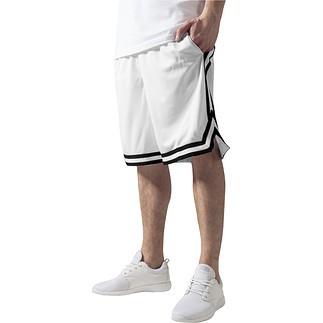 URBAN CLASSICS Shorts Stripes Mesh Weiß/Schwarz/Weiß