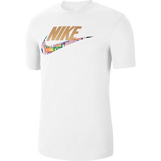 Nike T-Shirt Flaggen Weiß