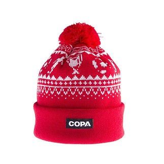 Copa Beanie Nordic Knit rot/weiß