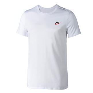 Nike T-Shirt Club Futura Weiß/Rot
