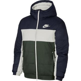Nike Winterjacke Hooded Blau/Beige/Grün