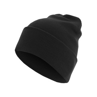 MasterDis Beanie Basic Flap Long schwarz