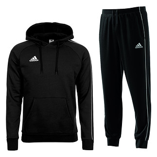 Adidas Freizeitanzug Core 18 Schwarz
