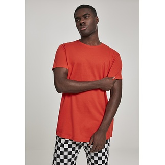 URBAN CLASSICS T-Shirt Shaped Long blutorange
