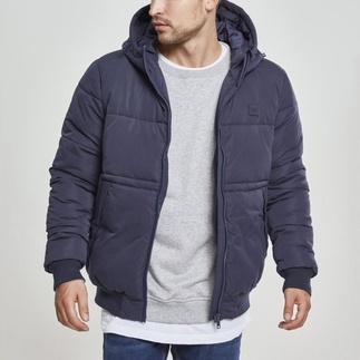 URBAN CLASSICS Winterjacke Hooded Peach Puffer navy