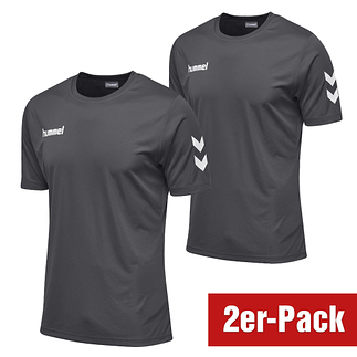 hummel 2er Set T-Shirt Core Poly Grau