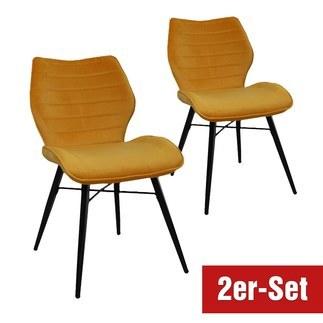 BREAZZ Stuhl Branca 2er Set gelb