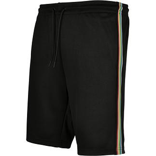 URBAN CLASSICS Shorts Side Taped schwarz/bunt
