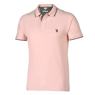 U.S. POLO ASSN. Poloshirt Fashion rose/grau