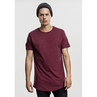 URBAN CLASSICS T-Shirt Shaped Melange Long rot