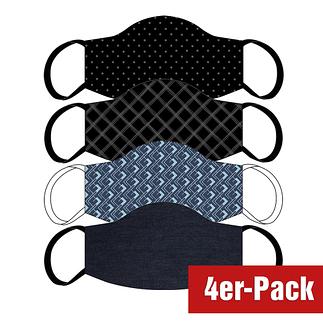 4er Set Mund-Nase Maske Männer Stylisch Mix