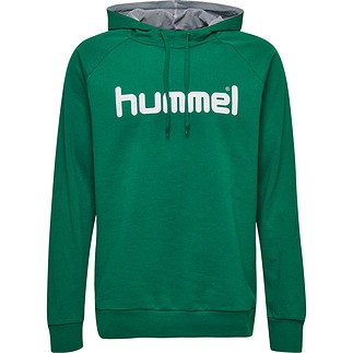 hummel Hoodie Cotton Logo grün