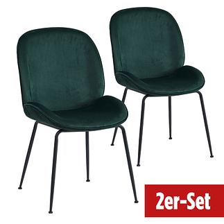 BREAZZ Stuhl Ladybug Velvet 2er Set grün