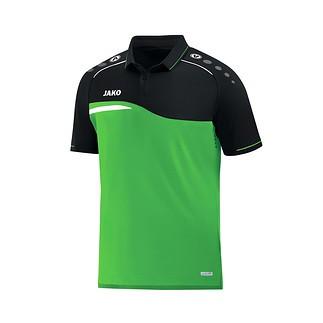 Jako Poloshirt Competition 2.0 grün/schwarz
