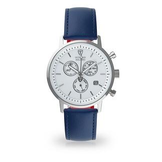 DETOMASO Herren Quarzuhr MILANO Chronograph Silber/Blau