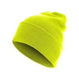 MasterDis Beanie Basic Flap Long neongelb