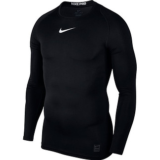 Nike Pro Langarmshirt Top Compression Crew Schwarz