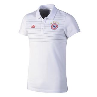 Adidas FC Bayern München Polo-Shirt Streifen Weiß