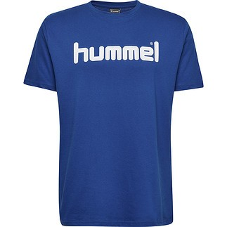 hummel T-Shirt Cotton Logo blau