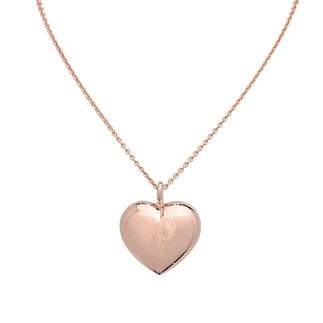 S. Oliver Damen Halskette 45 cm mit Herz-Anhänger Gold