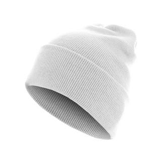 MasterDis Beanie Basic Flap Long weiß