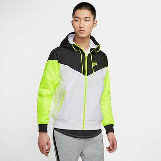 Nike Kapuzenjacke Windrunner Weiß/Schwarz/Neon