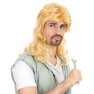 Karnevals- Perücke Retro Vokuhila blond