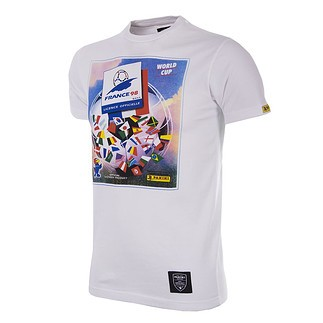 Copa PANINI T-Shirt World Cup 1998 Frankreich weiß