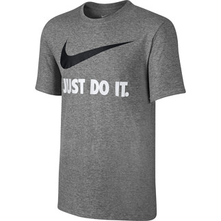 Nike T-Shirt Just Do It Swoosh dunkelgrau/schwarz