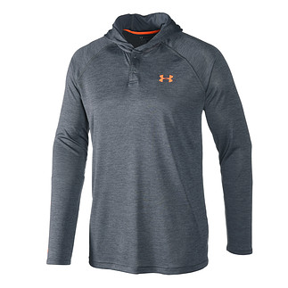 Under Armour Hoodie Tech Popover Henley grau/orange