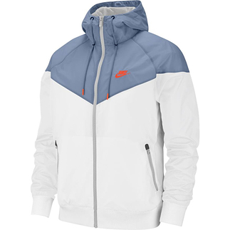 Nike Kapuzenjacke Windrunner Weiß/Blau/Orange