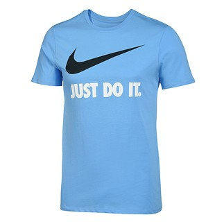 Nike T-Shirt Just Do It Swoosh blau/schwarz