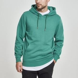 URBAN CLASSICS Hoodie Back Stripe grün/schwarz/rot